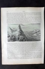 Blackie 1882 Antique Print. Valley of the Irawadi, Burma
